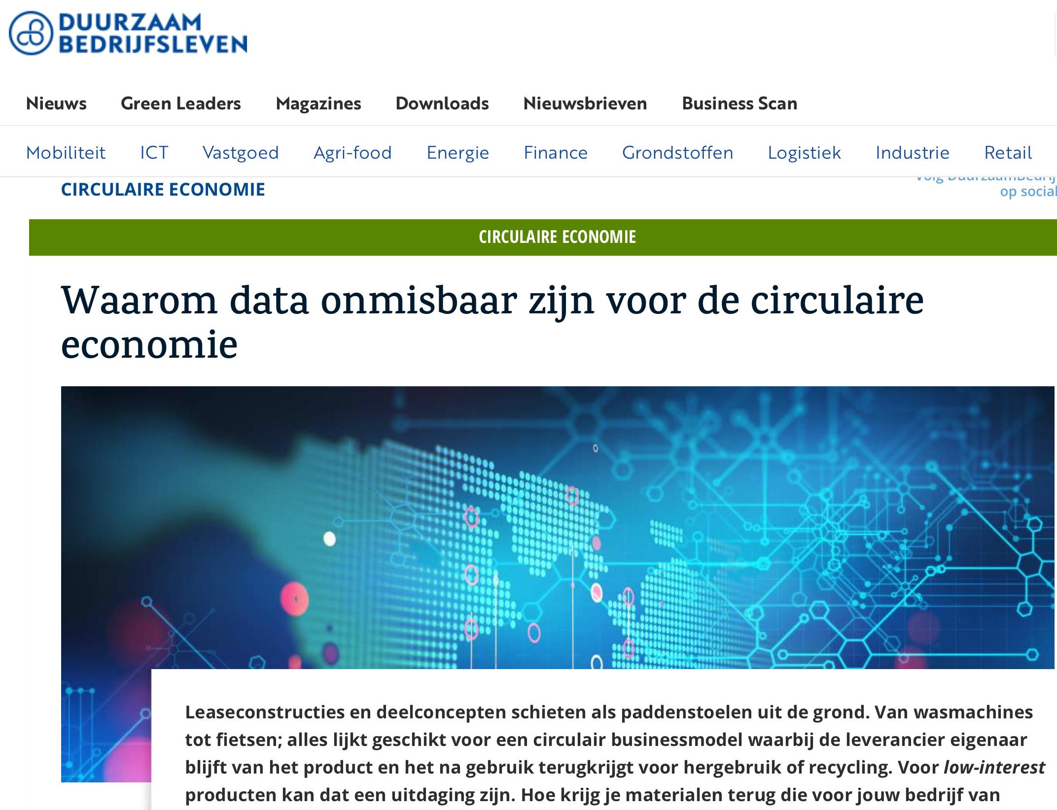 Waarom data onmisbaar is in de circulaire economie